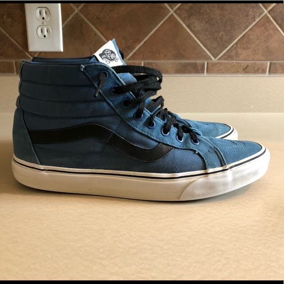 blue and black vans